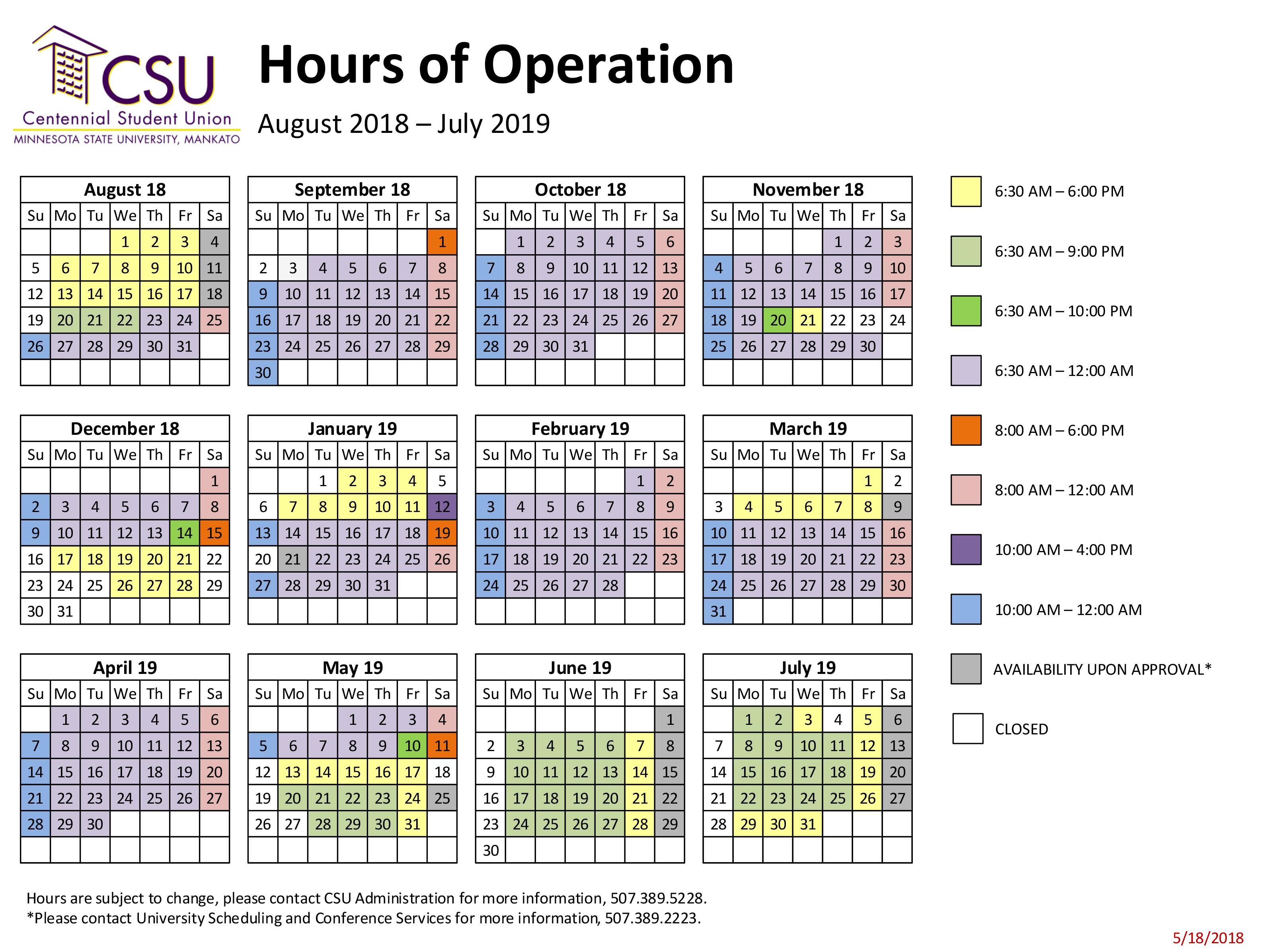 3f371fd190 CSU Building Hours – The Building – Centennial Student Union ...